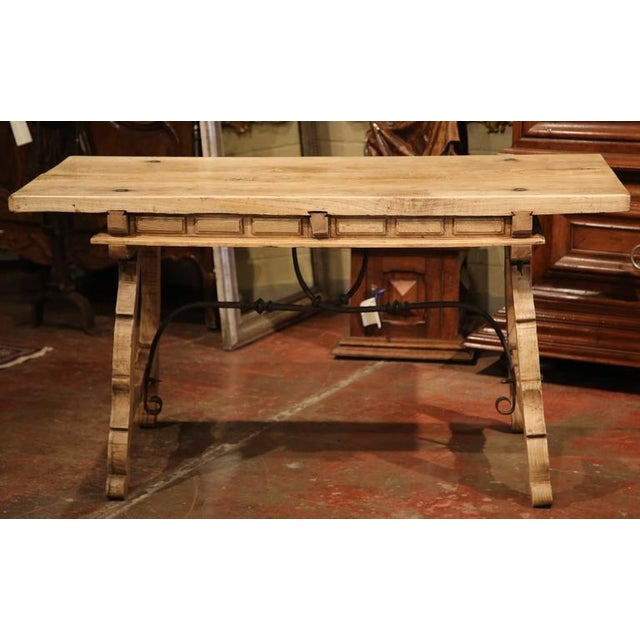 19th Century Spanish Bleached Chestnut Table For Sale - Image 10 of 10