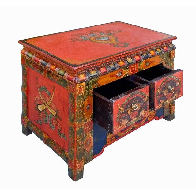 Chinese Tibetan Treasure Motif Small Cabinet - Image 4 of 6