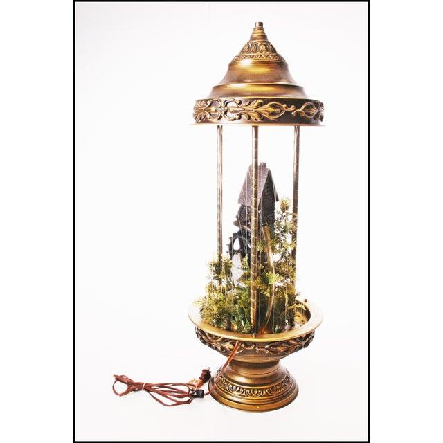 Mid Century Hollywood Regency Mineral Oil Rain Lamp - Image 4 of 11