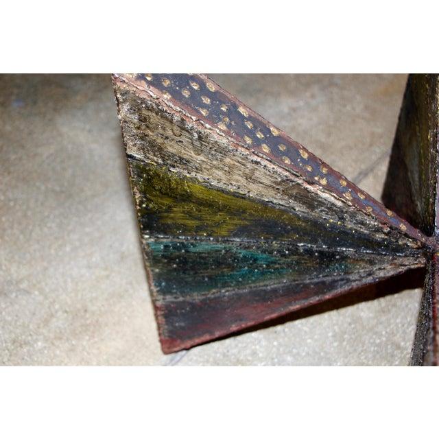 Metal Paul Evans Brutalist Steel Coffee Table For Sale - Image 7 of 13