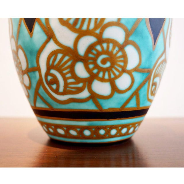 Charles Catteau Early 20th Century Charles Catteau Earthenware Vase For Sale - Image 4 of 8