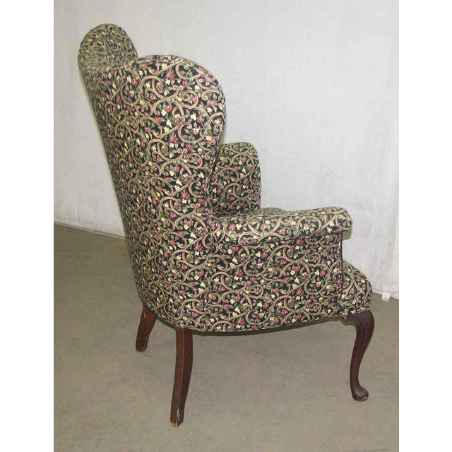 Antique Wingback Parlor Chair For Sale - Image 4 of 9