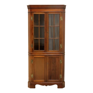 Craftique Solid Mahogany Chippendale Corner Cupboard For Sale