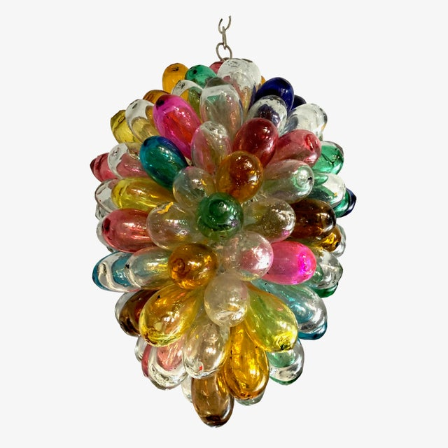 Bright Colors of Light Fixture of Recycled Hand Blown Glass For Sale - Image 11 of 11
