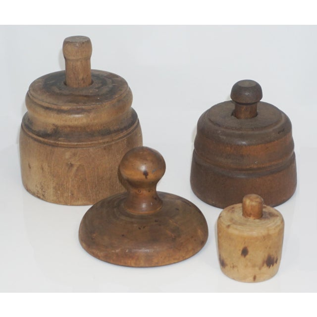 Collection of 4 Antique Butter Molds For Sale - Image 10 of 10