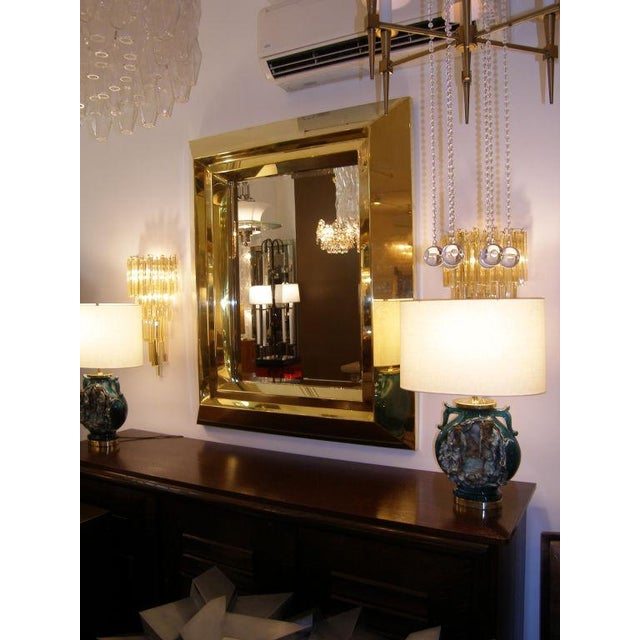 Custom brass beveled mirror by Craig Van Den Brulle Made to order, lead time 8 to 10 weeks
