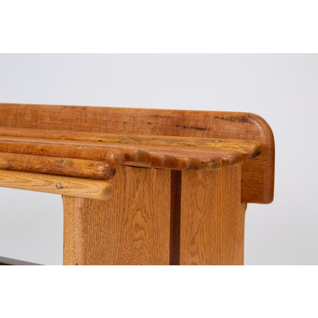 Andrew Stauss Studio Craft Bench in Oak and Walnut For Sale In Los Angeles - Image 6 of 12