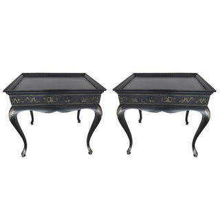 Carlin Hand-Painted Side Tables - A Pair For Sale