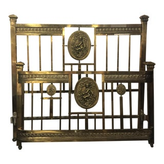 Vintage Italian Neoclassical Full Size Brass Bed