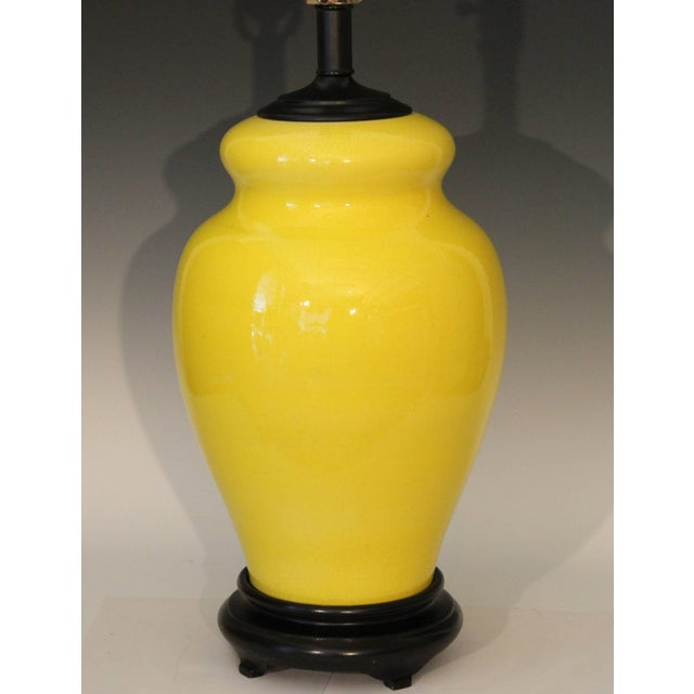 Modern Alvino Bagni Atomic Chrome Crackle Yellow Italian Pottery Raymor Gourd Lamp For Sale - Image 3 of 11