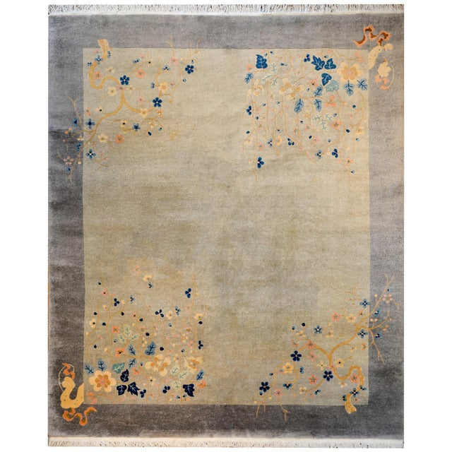 Serene Chinese Art Deco Rug For Sale - Image 9 of 9