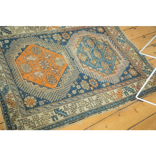 """Antique Caucasian Square Rug - 3'6"""" x 4'4"""" - Image 5 of 10"""
