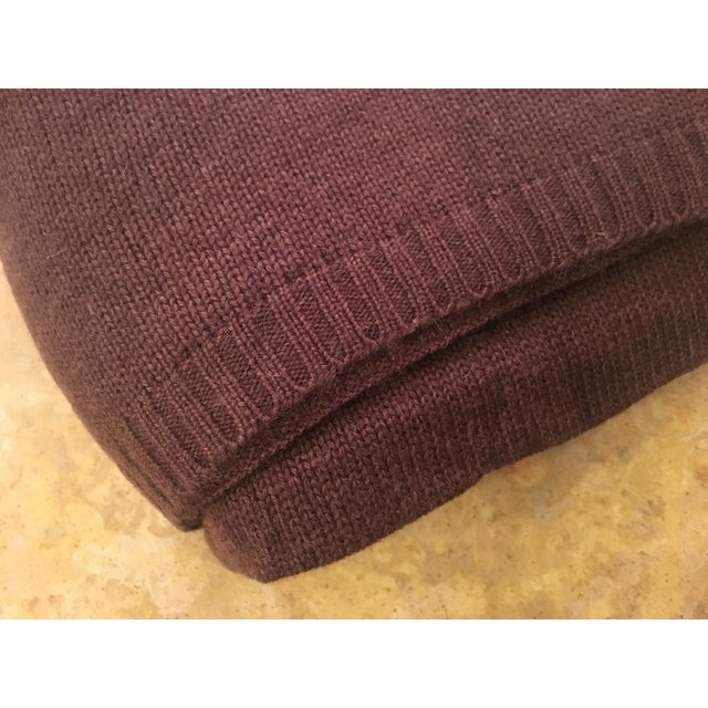 Chocolate Brown Cashmere Blanket - Image 8 of 10
