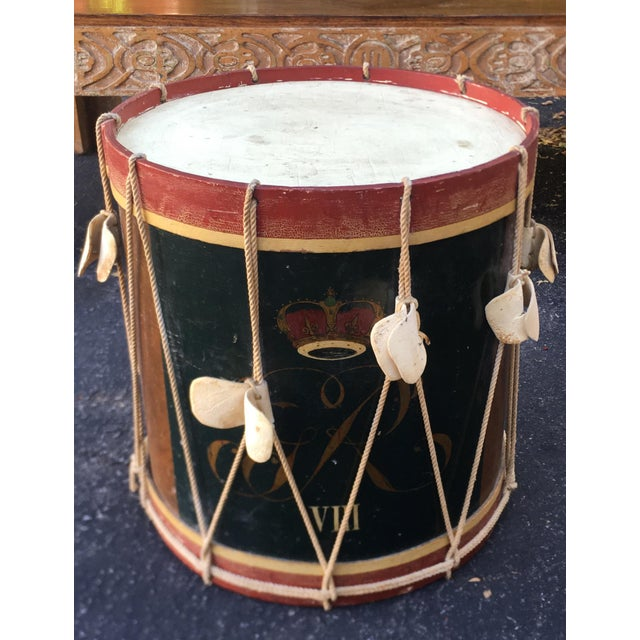 1940s Historic Reproduction British Military Drum Table - American Revolution For Sale - Image 5 of 5