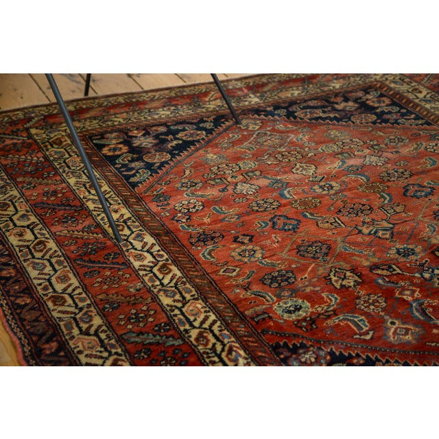 "Antique Fine Malayer Square Rug - 5'8"" x 5'8"" - Image 4 of 10"