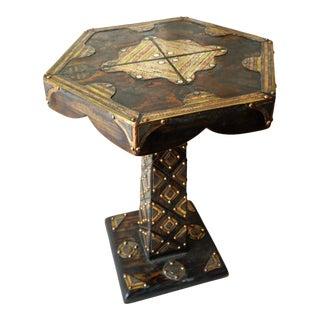 1940s Tuareg Hexagonal Side Table For Sale