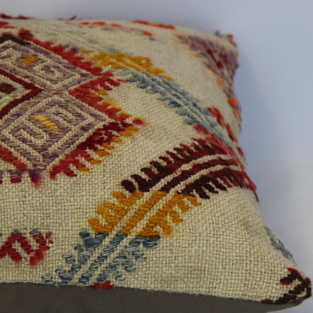 Turkish Handmade Kilim Pillow Cover - Image 10 of 11