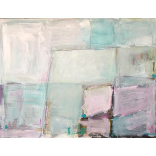 Aqua Contemporary Abstract Painting For Sale