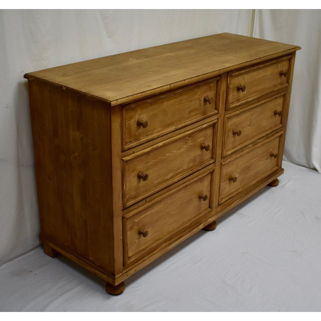 Country Pine Chest of Six Drawers For Sale - Image 3 of 8