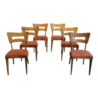 "Mid-Century Modern Heywood Wakefield ""Dog-Bone"" Dining Chairs - Set of 6"