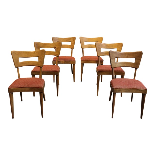 "Mid-Century Modern Heywood Wakefield ""Dog-Bone"" Dining Chairs - Set of 6 - Image 1 of 11"
