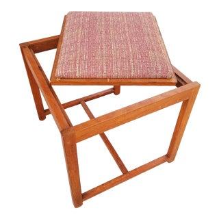 Erik Buch Attributed Teak Danish Modern End Table / Stool For Sale