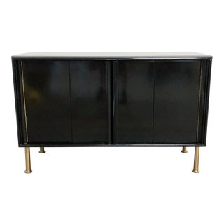 Modern Black Lacquer Modern Nightstand For Sale