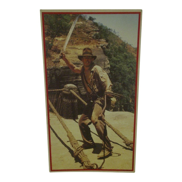 Vintage Un-Cut Sheet of Gum Card Stickers - Indiana Jones and the Temple of Doom For Sale