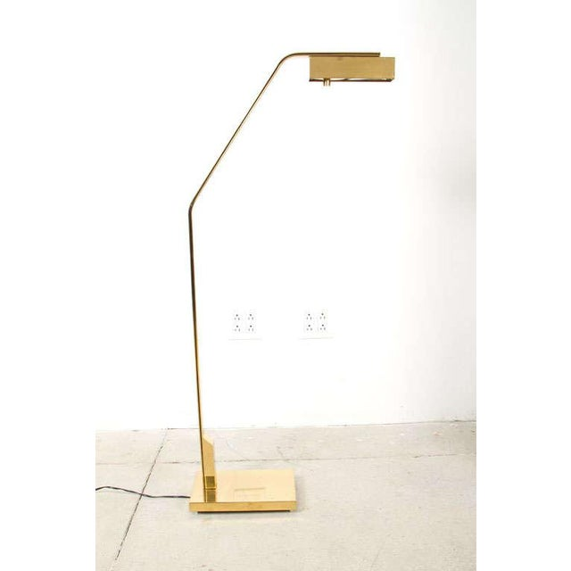 1970s Casella Cantilevered Flat Bar Pivot Reading Lamp For Sale - Image 5 of 8