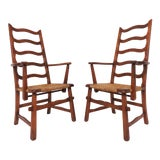 Image of Pair of Cushman Style American Handmade Armchairs, 1930s For Sale
