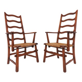 Pair of Cushman Style American Handmade Armchairs, 1930s For Sale