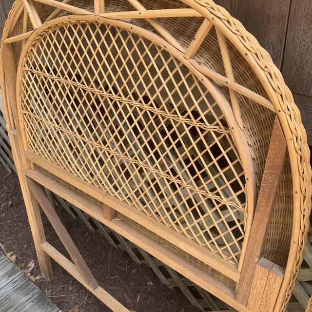 Vintage Wicker Headboards- a Pair For Sale - Image 10 of 13