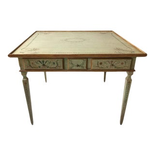 Julia Gray Oversized Painted Game Table For Sale