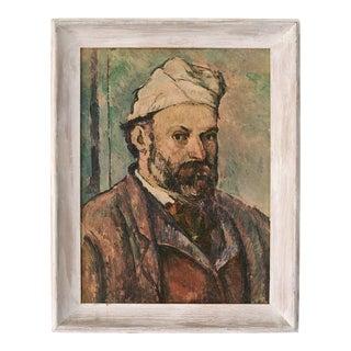 Vintage Cezanne Self Portrait Painting Framed Print
