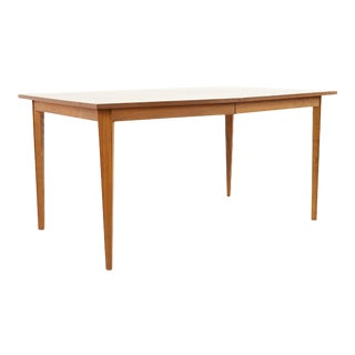 Stanley Mid Century Walnut Expanding Dining Table For Sale