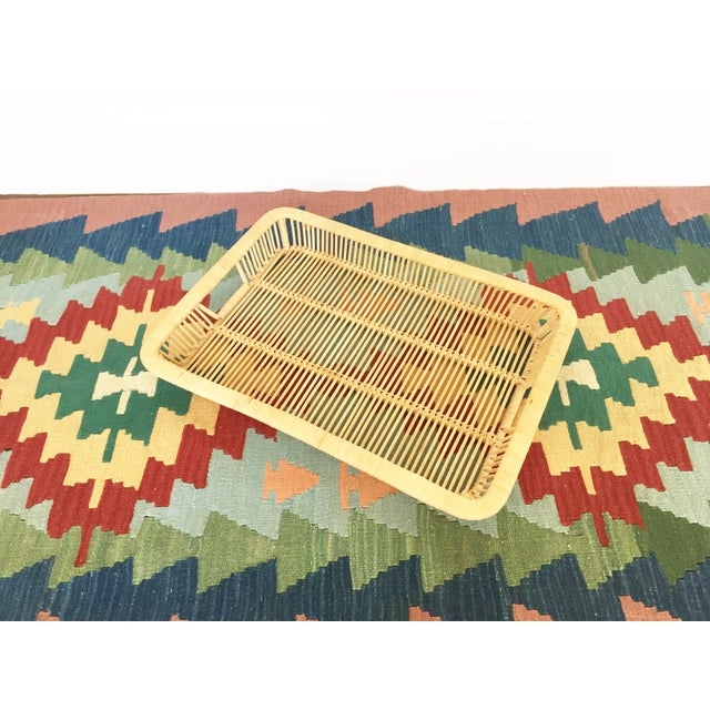 Boho Chic Vintage Rattan Tray - Image 3 of 6