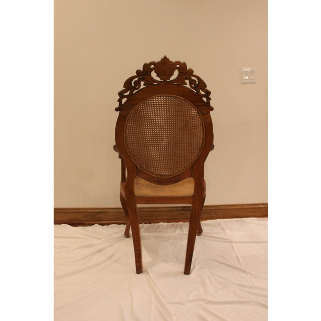 Vintage Carved Accent Chair - Image 3 of 11