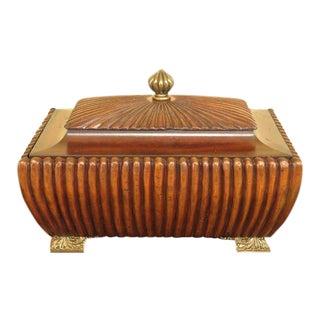 Maitland Smith Mahogany Covered Box