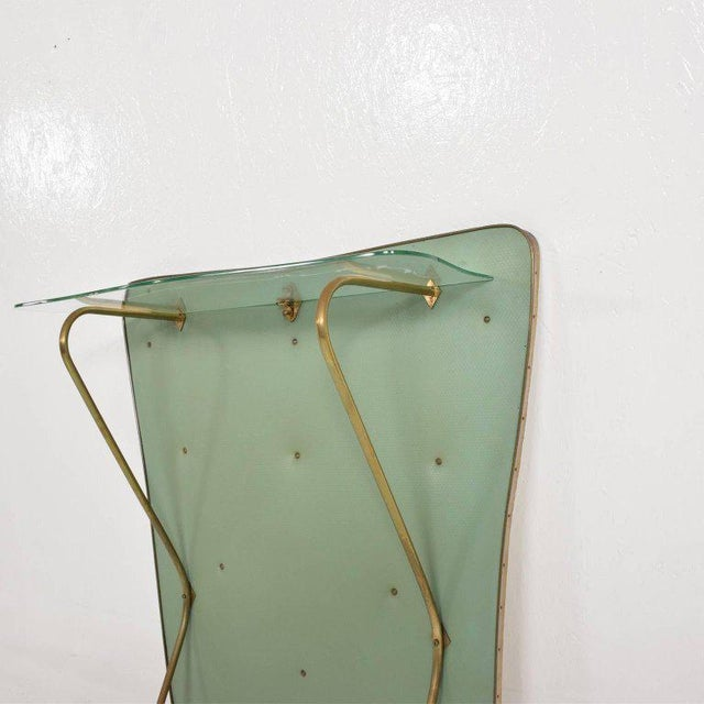 Gold Mid-Century Modern Wall Console For Sale - Image 8 of 9