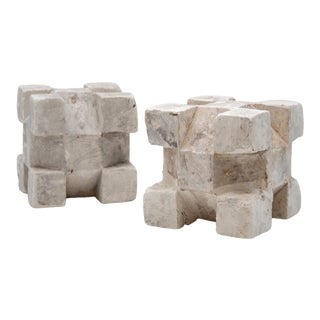 1960s Plaster Geometric Models - a Pair For Sale