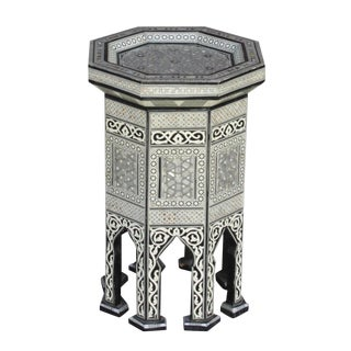 Syrian Mother of Pearl Side Table For Sale