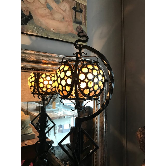 Hand-wrought Arts & Craft Table Lamp - Image 8 of 10