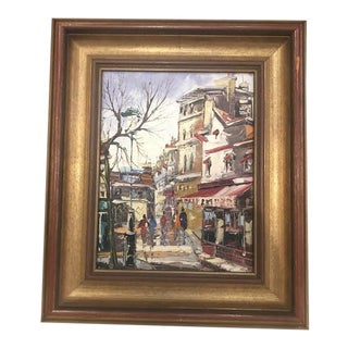 1970s Vintage Impressionist Inspired Signed Oil on Canvas Painting For Sale