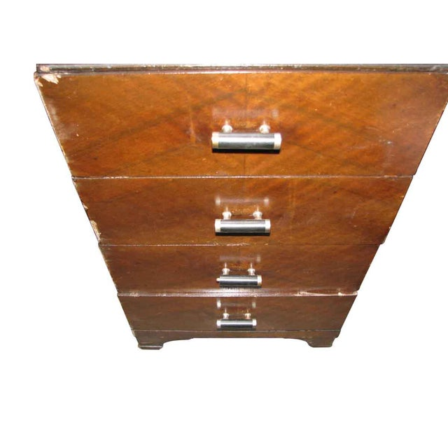 1950s Deco Vanity & Pink Stool - a Pair For Sale - Image 10 of 10
