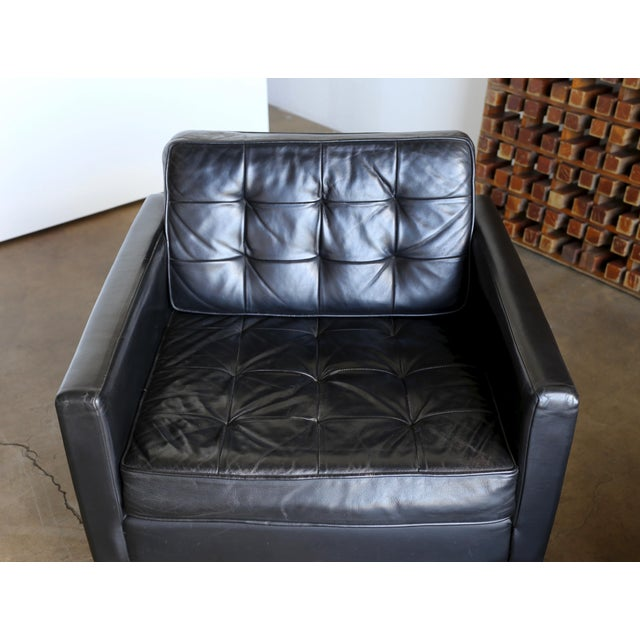 Animal Skin Mid Century Florence Knoll Leather Lounge Chairs - a Pair For Sale - Image 7 of 11