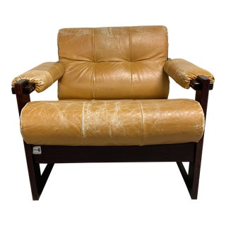 1960s Rosewood Percival Lafer Lounge Chair For Sale