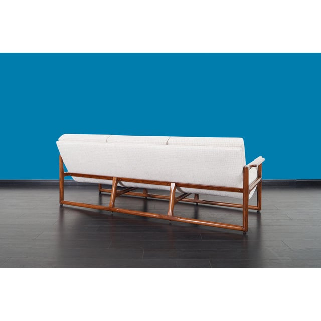 """Wood Mid Century """"Cube"""" Sofa by Milo Baughman For Sale - Image 7 of 9"""