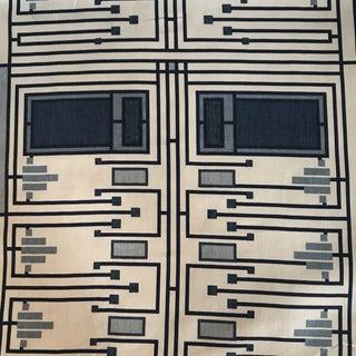 """Schumacher Frank Lloyd Wright """"Design 105"""" Blue Fabric For Sale"""
