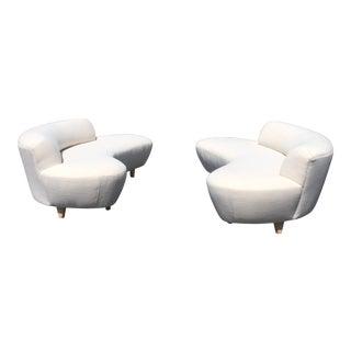 Modern Cloud Sofa's- Pair For Sale