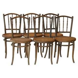 Antique Thonet Chairs C.1890s - Set of 6